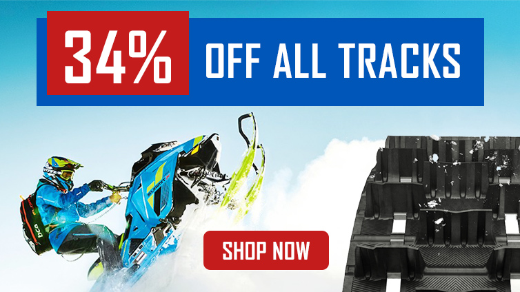 34% off snowmobile tracks