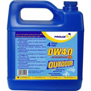 OUTDOOR 0W40 100% SYNTHETIC OIL FOR SNOWMOBILES / ATV'S 4 STROKE